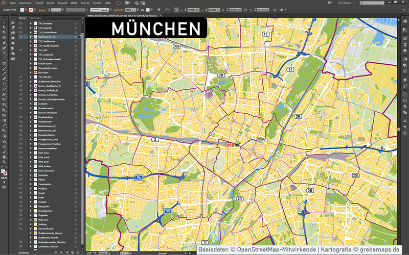 München Stadtplan Vektor Stadtbezirke Stadtteile Topographie, Karte Stadtplan München, Vektorkarte MünchenMünchen Stadtplan Vektor Stadtbezirke Stadtteile Topographie, Karte Stadtplan München, Vektorkarte München