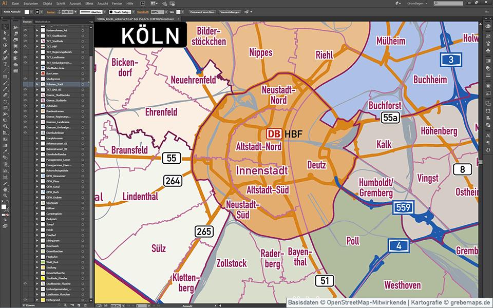 Köln Stadtplan Vektor Stadtbezirke Stadtteile Topographie, Vektorkarte Köln, Landkarte Köln, Karte Köln, Übersichtskarte KölnKöln Stadtplan Vektor Stadtbezirke Stadtteile Topographie, Vektorkarte Köln, Landkarte Köln, Karte Köln, Übersichtskarte Köln
