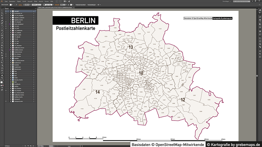 berlin stadtplan postleitzahlen plz 5 topographie stadtbezirke stadtteile. Black Bedroom Furniture Sets. Home Design Ideas