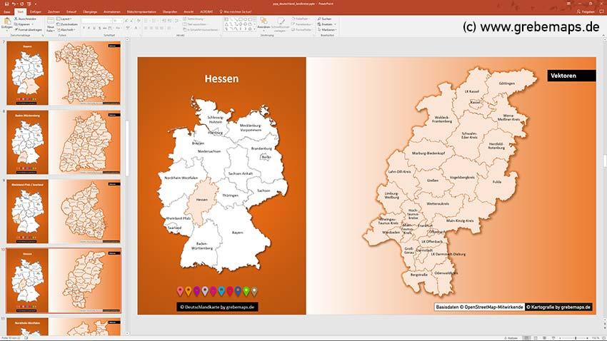 Deutschland PowerPoint-Karte Landkreise Bundesländer, PowerPoint-Karte Landkreise DeutschlandDeutschland PowerPoint-Karte Landkreise Bundesländer, PowerPoint-Karte Landkreise Deutschland