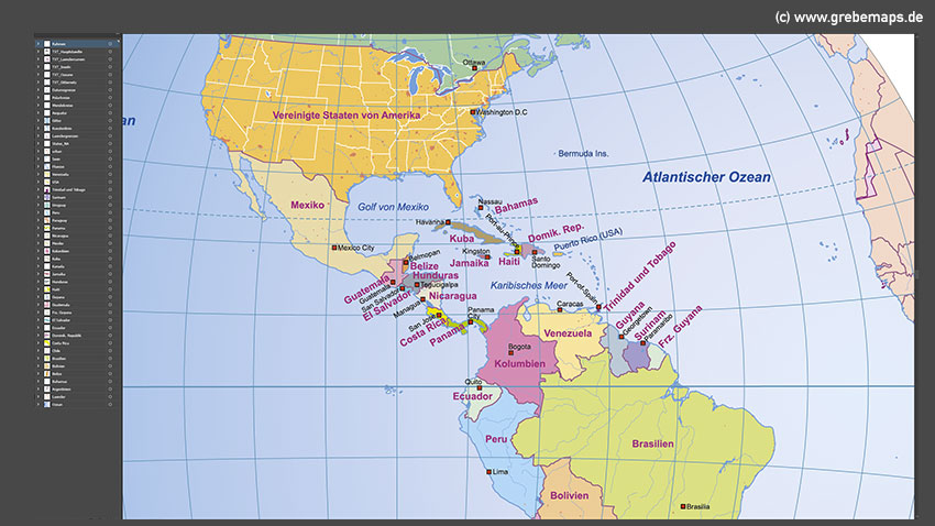 Weltkarte Globen Vektorkarten, Globus-Darstellung, Karte Welt Vektor Globus, Azimutale Welt-Darstellung, Weltkarte