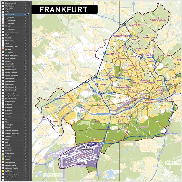 Stadtteile Frankfurt