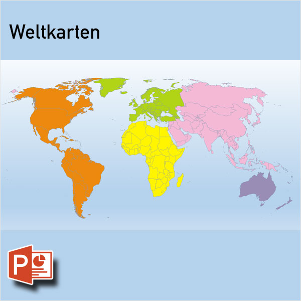 PowerPoint-Karte Welt Weltkarten