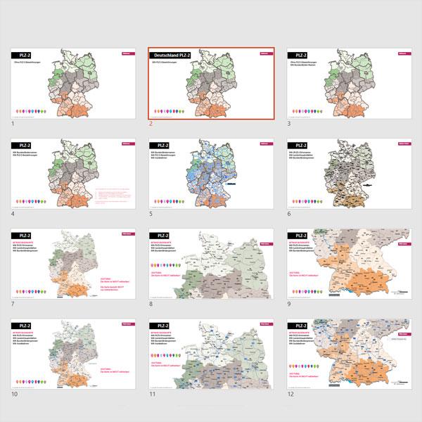 Deutschland PowerPoint-Karte Postleitzahlen PLZ-2