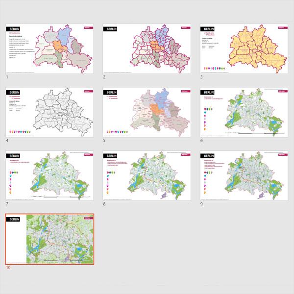 Berlin PowerPoint-Karte Mit Bezirken Und Stadtteilen
