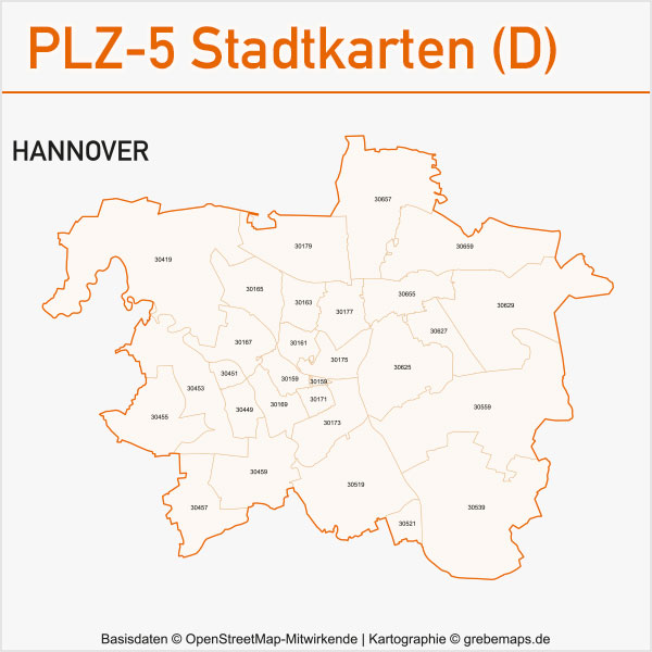 postleitzahlen karten plz 5 vektor stadtkarten deutschland grebemaps kartographie. Black Bedroom Furniture Sets. Home Design Ideas