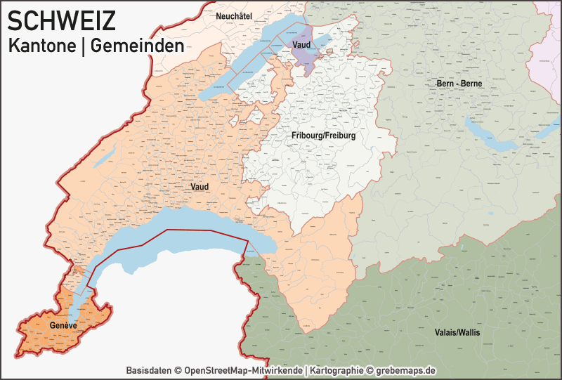 Schweiz Vektorkarte Kantone Gemeinden. Landkarte Gemeinden Schweiz, Karte Kantone Schweiz, Vektorkarte Kantone Schweiz, karte vector schweiz, karte vektor schweiz kantone, gemeinde karte schweiz, karte gemeinden schweiz