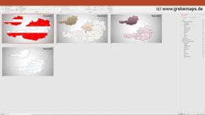 Austria Österreich PowerPoint-Karte Bundesländer, Karte Österreich, Austria, Bundesländer Österreich, PowerPoint-Karte Österreich Bundesländer, Austria Bundesländer