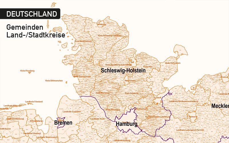 Deutschland Gemeinden Mit Gemeindenamen Vektorkarte, Karte Gemeinden Deutschland Vektor, Vektorkarte Deutschland Gemeinden, Karte Vektor Gemeinden Landkreise Deutschland, Karte Deutschland Landkreise Gemeinden