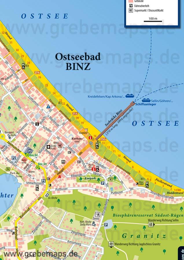 Ortsplan Binz Ostseebad Auf Rügen, Binz Ostseebad Auf Rügen Ortsplan, Karte Binz, Karte Ortsplan Binz, Ostseebad Binz Karte, Plan Binz, Stadtplan Binz