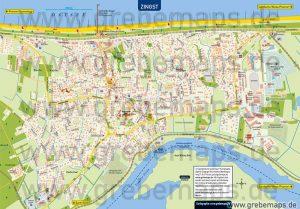 Ortsplan Zingst Ostseeheilbad, Karte Zingst, touristische Karte Zingst