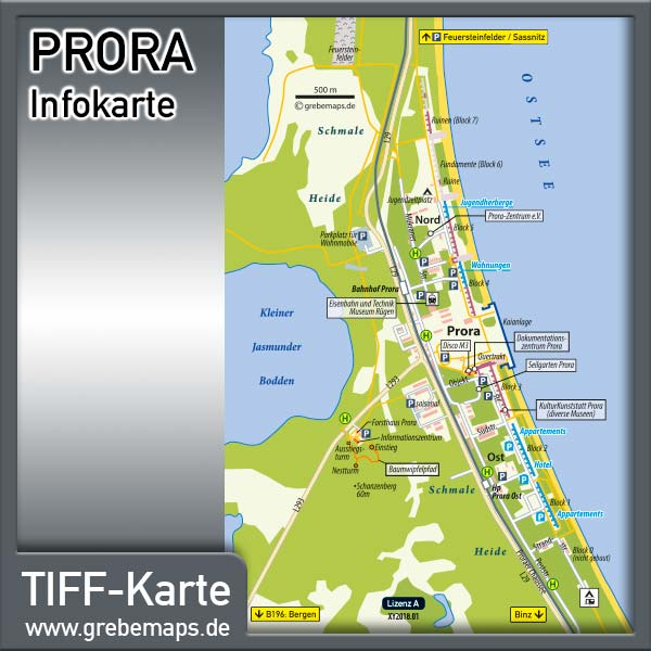 Prora Binz Rügen Infokarte (Lizenz XL)