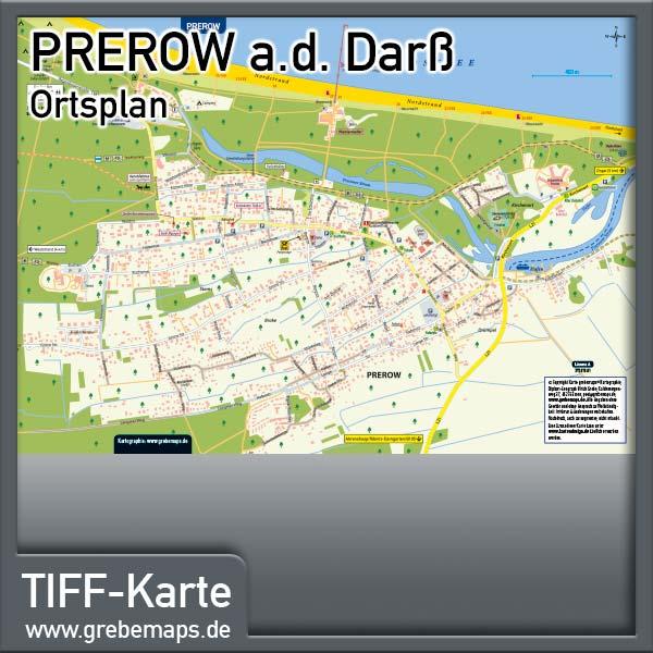 Ortsplan Prerow Ostseebad Auf Dem Darß (Lizenz XL)