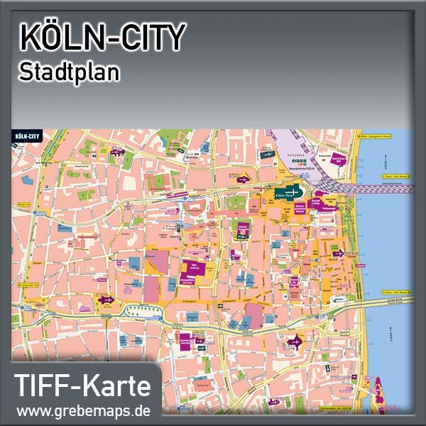Stadtplan Köln-City (Lizenz XL)