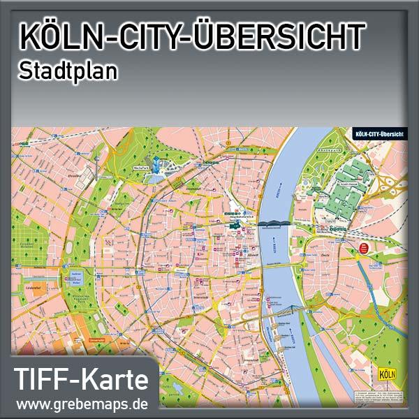 Stadtplan Köln-City-Übersicht (Lizenz XL)