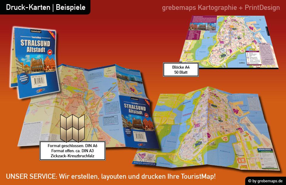 Stadtplan Stralsund-Altstadt, Ortsplan Stralsund-Altstadt, Karte Stralsund-Altstadt, touristische Karte, TouristMap, Karte Stralsund mit Sehenswürdigkeiten