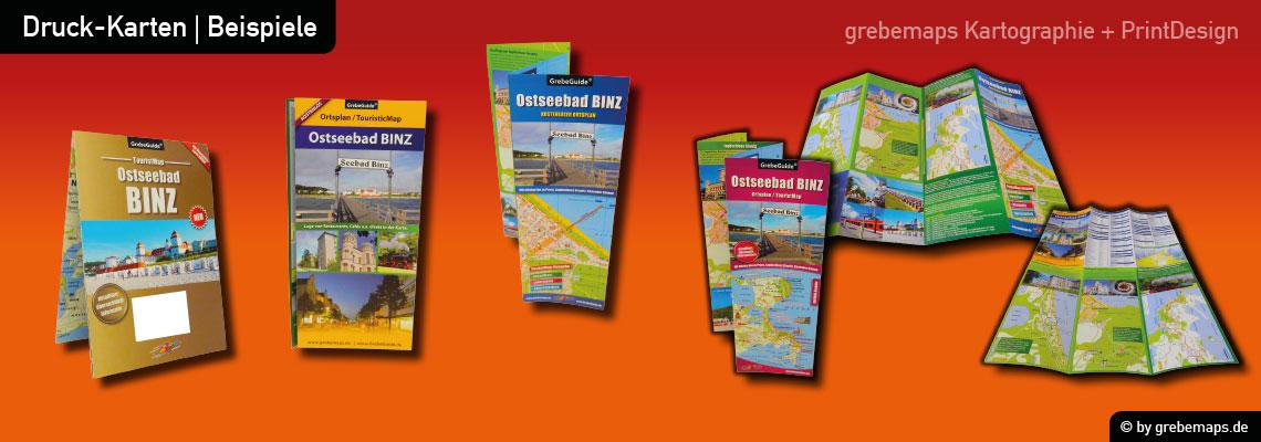 Binz Ostseebad auf Rügen Ortsplan, Karte Binz, Karte Ortsplan Binz, Ostseebad Binz Karte, Plan Binz