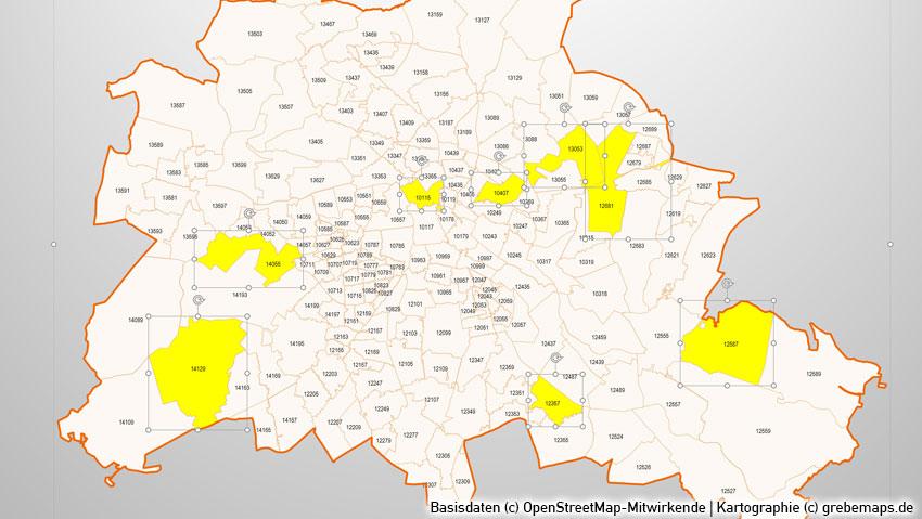 Postleitzahlen München Karte.Powerpoint Karte Stadtkarten Postleitzahlen Plz 5 Berlin Hamburg München Köln