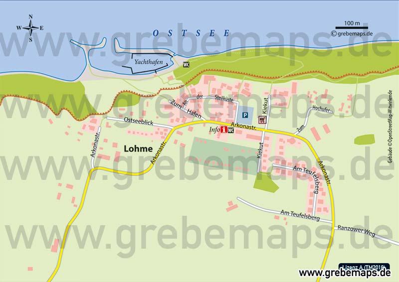 Ortsplan Lohme Rügen