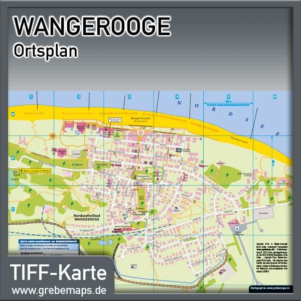 Ortsplan Wangerooge Nordseeheilbad (Lizenz XL)