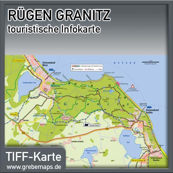 Karte Rügen Granitz (Lizenz XL)