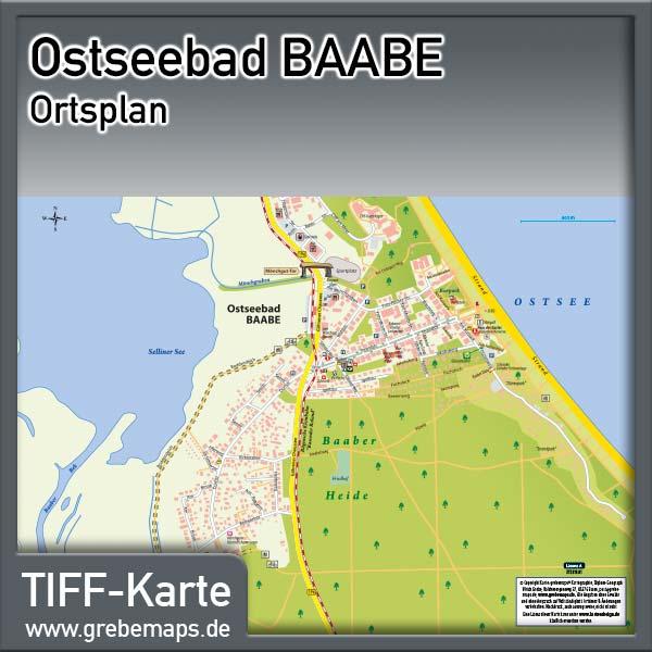 Ortsplan Baabe Ostseebad Auf Rügen
