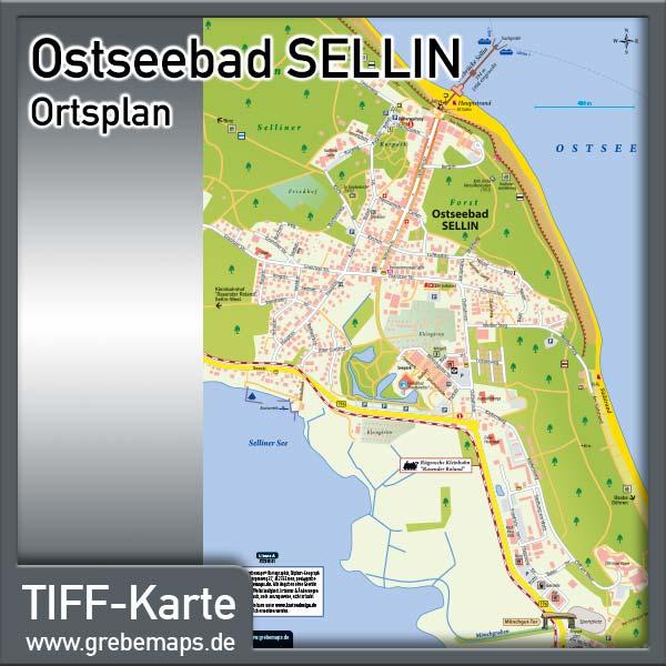 Ortsplan Sellin Ostseebad Auf Rügen (Lizenz XL)