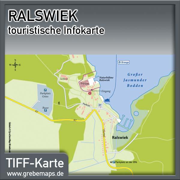 Karte Ralswiek Rügen (Lizenz XL)