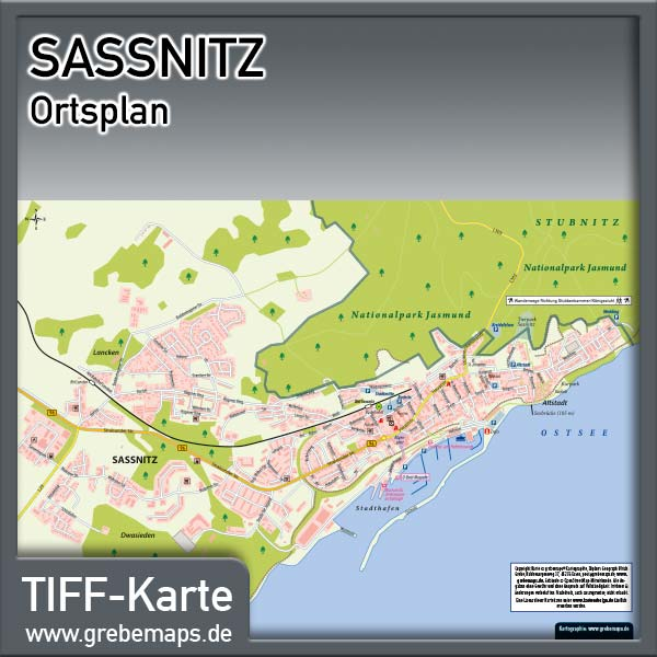 Ortsplan Sassnitz Auf Rügen (Lizenz XL)