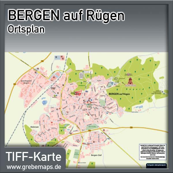 Ortsplan Bergen Auf Rügen