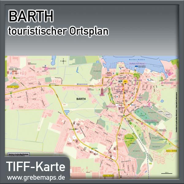 Ortsplan Barth (Lizenz XL)