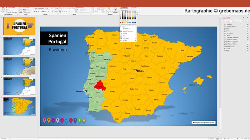 Spanien Portugal PowerPoint-Karte mit Provinzen, Vektorkarte Spanien Portugal mit Provinzen für PowerPoint, Karte Spanien Portugal mit Provinzen, Kanaren, Balearen, AzorenSpanien Portugal PowerPoint-Karte mit Provinzen, Vektorkarte Spanien Portugal mit Provinzen für PowerPoint, Karte Spanien Portugal mit Provinzen, Kanaren, Balearen, Azoren