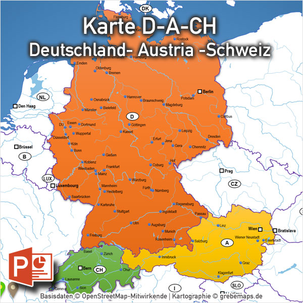 karte schweiz kantone powerpoint archive grebemaps. Black Bedroom Furniture Sets. Home Design Ideas