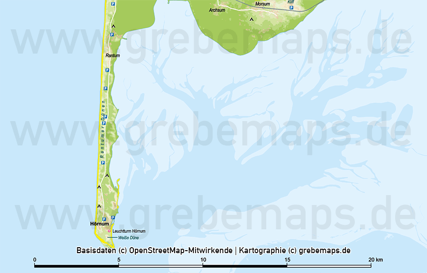 Sylt Vektorkarte Höhenschichten - Basiskarte Mit Gebäuden, Karte Insel Sylt, Inselkarte Sylt, Landkarte Sylt, Karte Sylt Physisch, Physische Karte Sylt, Sylt Karte Vektor Bearbeitbar, Sylt Vektor-Karte