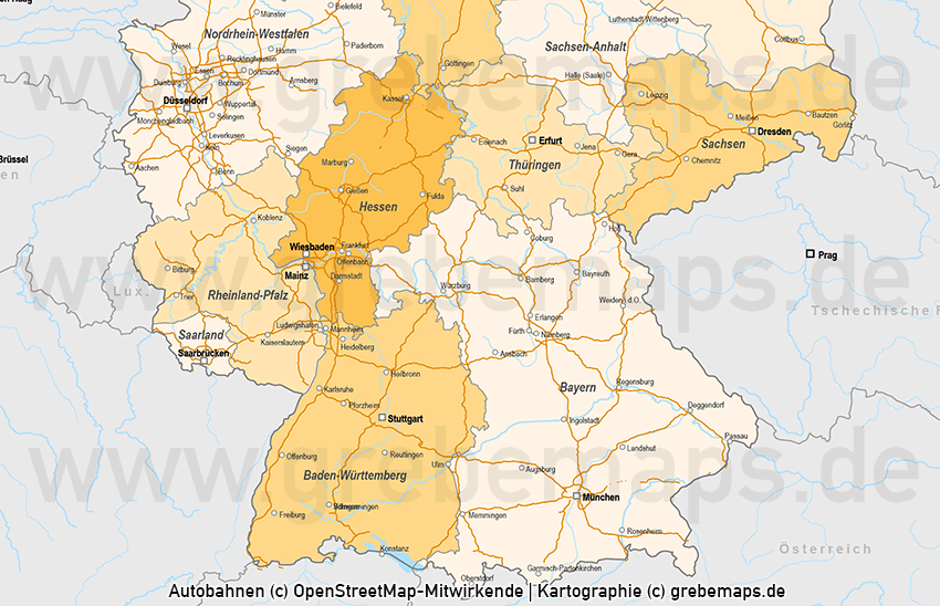 Deutschland Vektorkarte Bundesländer Autobahnen, Karte Deutschland Bundesländer, Karte Deutschland Autobahnen, Karte Deutschland Nachbarländer, Karte Vektor Deutschland
