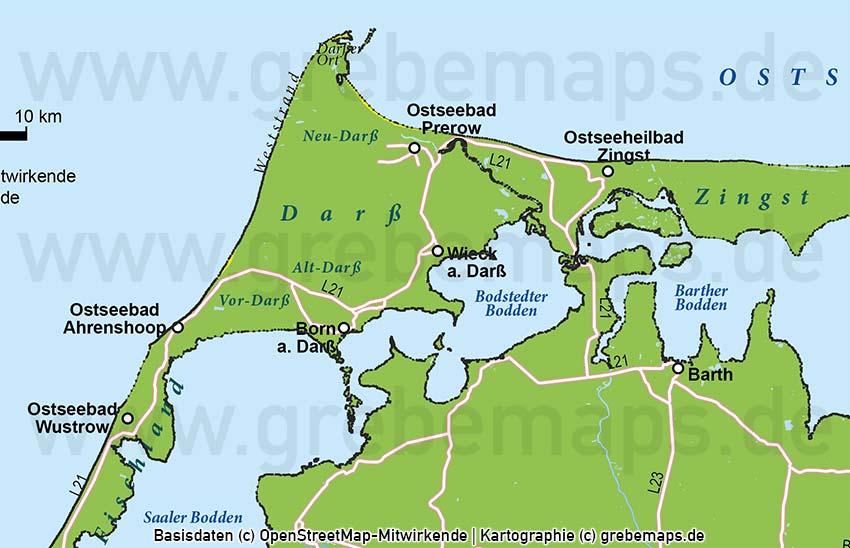 Fischland-Darß-Zingst Vektorkarte (DIN Lang)Fischland-Darß-Zingst Vektorkarte (DIN Lang)