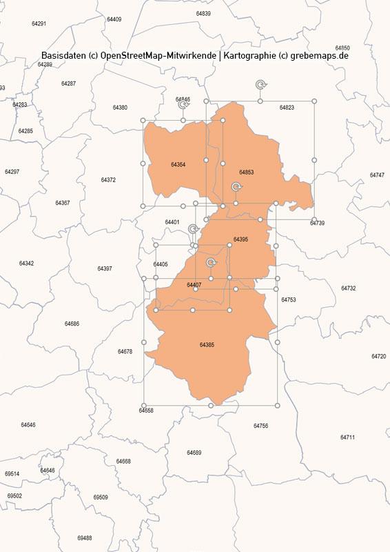 Deutschland PowerPoint-Karte PLZ-Zone 6 (Postleitzahlen 5-stellig), Karte PLZ-Zone 6 Deutschland, Deutschland Karte Postleitzahlenzone 6
