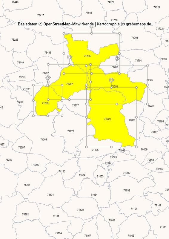 Deutschland PowerPoint-Karte PLZ-Zone 7 (Postleitzahlen 5-stellig), Karte PLZ-Zone 7 Deutschland, Deutschland Karte Postleitzahlenzone 7