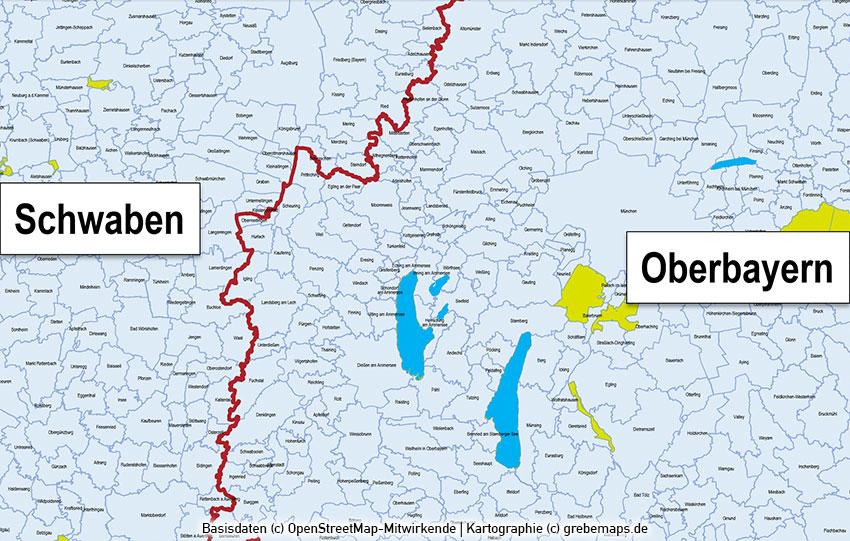 Karte Oberbayern Landkreise.Powerpoint Karte Bayern Landkreise Gemeinden