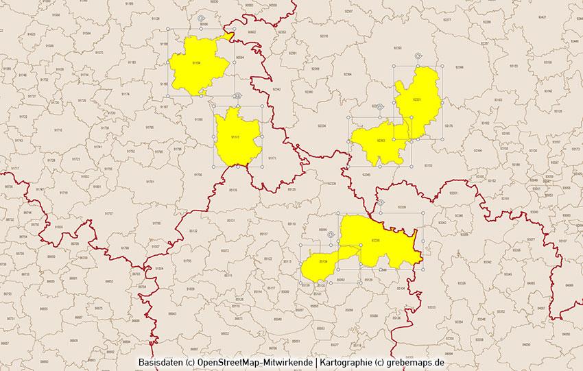 Plz Karte Bayern.Powerpoint Karte Bayern Postleitzahlen Plz 5 5 Stellig Mit München