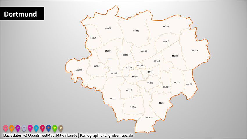 PLZ-Karte Dortmund, Postleitzahlenkarte Dortmund, Ruhrgebiet Postleitzahlen PLZ-5 PowerPoint-Karte (PLZ 5-stellig), Postleitzahlenkarte Ruhrgebiet, PLZ-Karte Ruhrgebiet, Vektorkarte Ruhrgebiet, PLZ-Karte Dortmund, PLZ-Karte Essen, PLZ-Karte Bochum, PLZ-Karte Duisburg