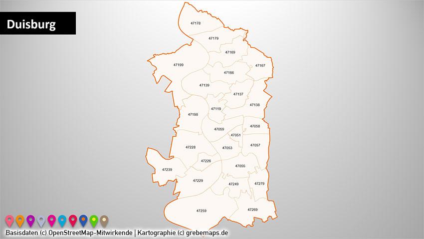 Bochum Karte.Powerpoint Karte Ruhrgebiet Postleitzahlen Plz 5 Plz 5 Stellig