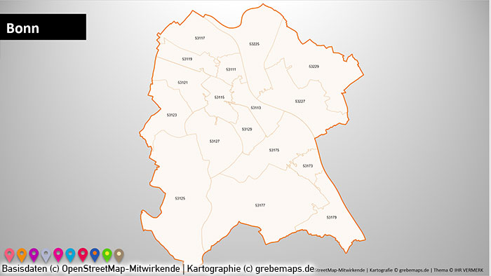 Stadtkarten Postleitzahlen Plz 5 Deutschland Powerpoint Karte Grebemaps Kartographie