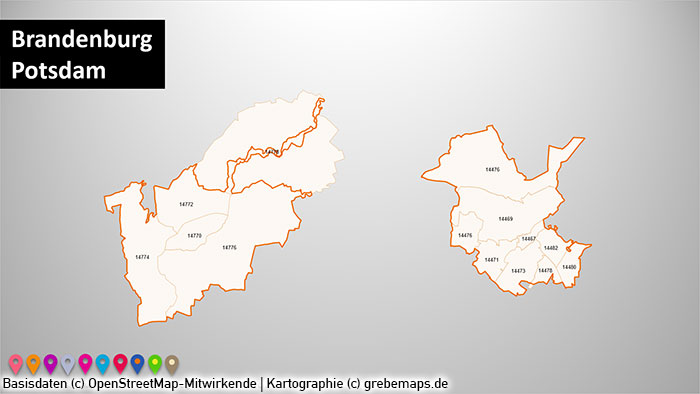 Postleitzahlen Karte Brandenburg.Powerpoint Karte Stadtkarten Postleitzahlen Plz 5 Deutschland Plz 5 Stellig 73 Städte