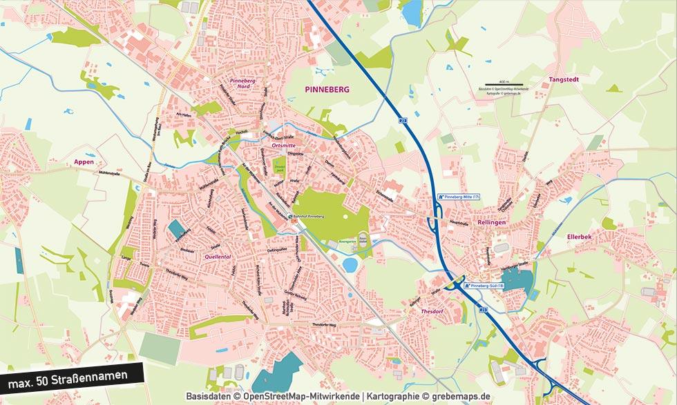 Individuelle Basiskarte Erstellen, Individuelle Stadtkarte Erstellen, Individuelle Landkarte Erstellen, Individuelle Karte Erstellen Aus Openstreetmap-Daten