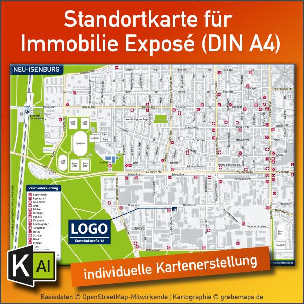 KartenDesign: Standortkarte Für Immobilie Expose (DIN A4) – Individuelle Erstellung