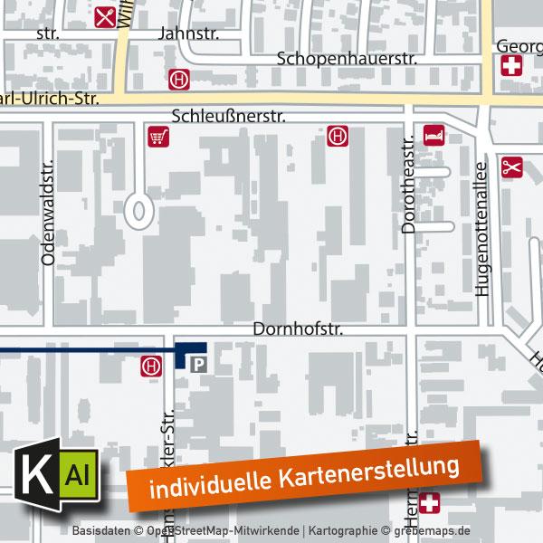 Standortkarte Für Immobilie Expose (DIN A4) - Individuelle Erstellung, Karte Für Immobilie Erstellen, Karte Für Exposé Erstellen, Standortkarte Erstellen, Lageplan Erstellen