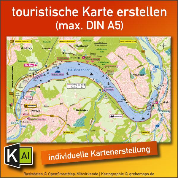 KartenDesign: Touristische Karte Erstellen (max. DIN A5)