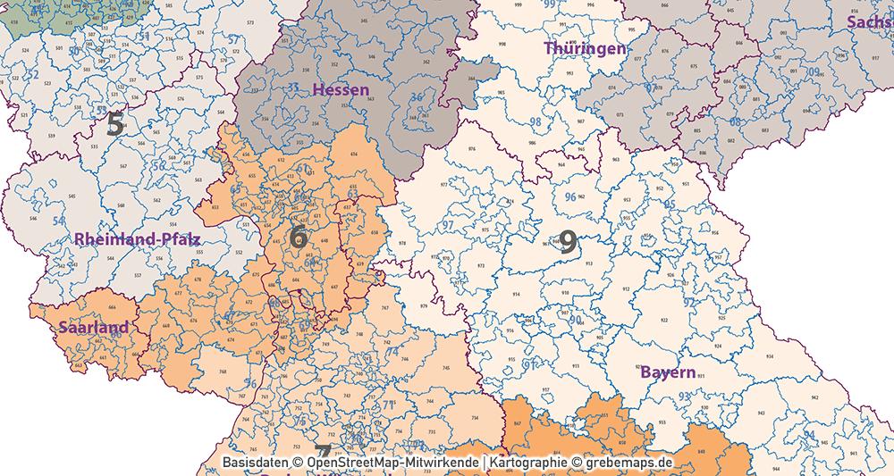 Plz Karte Bayern.Deutschland Postleitzahlenkarte Plz 1 2 3 Ebenen Separiert Mit Landkreisen Orten Bundesländern Vektorkarte 2019