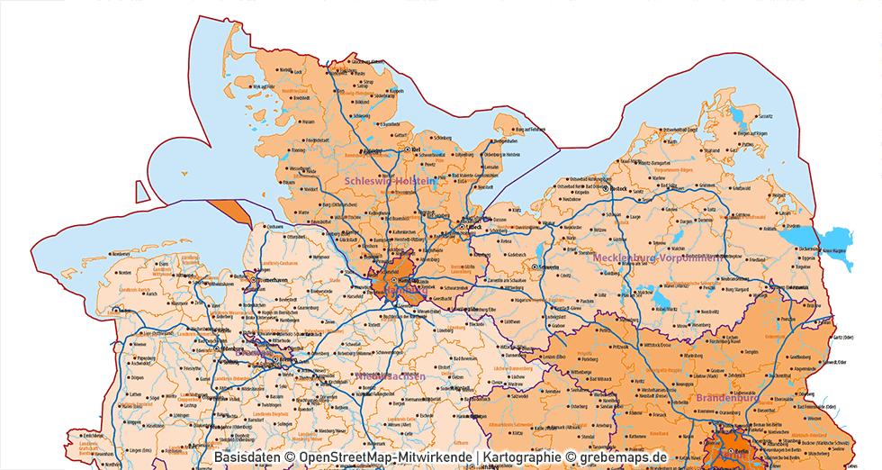 Deutschland Austria-Österreich Schweiz DACH Vektorkarte, Karte Deutschland Austria Schweiz, Karte DACH, Karte D-A-CH, Karte Deutschland Österreich Schweiz mit Autobahnen Bundesländer Kantone Landkreise, AI-Datei, download
